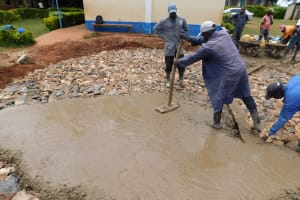 The Water Project: Gimomoi Primary School -  Laying Concrete