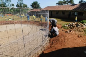 The Water Project: Gimomoi Primary School -  Wire Setting
