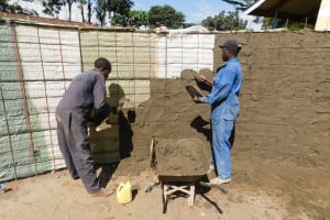 The Water Project: Gimomoi Primary School -  Plastering Inside