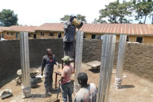 The Water Project: Gimomoi Primary School -  Pillar Setting