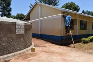 The Water Project: Gimomoi Primary School -  Gutters