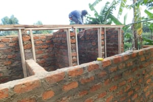 The Water Project: Gimomoi Primary School -  Latrine Roofing