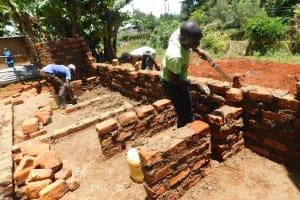 The Water Project: Gimomoi Primary School -  Latrines In Progress