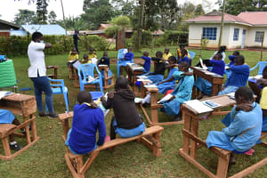 The Water Project: Gimomoi Primary School -  Coughing Into Elbow