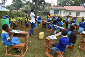 The Water Project: Gimomoi Primary School -  Handwashing