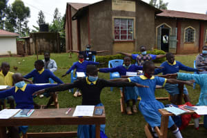 The Water Project: Gimomoi Primary School -  Physical Distancing