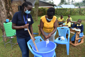 The Water Project: Gimomoi Primary School -  Soap Making