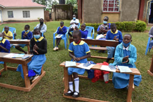 The Water Project: Gimomoi Primary School -  Trying Handwashing