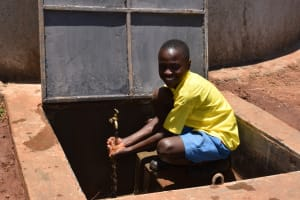 The Water Project: Gimomoi Primary School -  Water Flowing