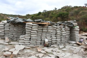 The Water Project: Kyamwalye Community -  A Lot Of Cement