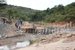 The Water Project: Kyamwalye Community -  Construction Begins