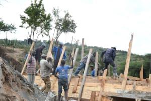 The Water Project: Kyamwalye Community -  Wall Work