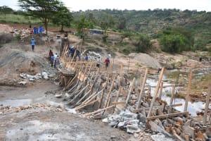 The Water Project: Kyamwalye Community -  Walls Growing