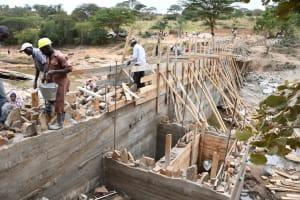 The Water Project: Kyamwalye Community -  Walls Rising
