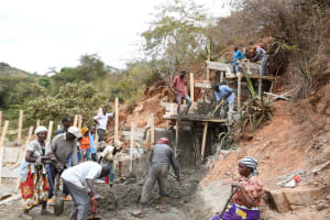 The Water Project: Kyamwalye Community -  A Vertical Operation
