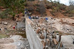 The Water Project: Kyamwalye Community -  Wing Walls