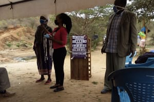 The Water Project: Kyamwalye Community -  Covid Prevention