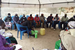 The Water Project: Kyamwalye Community -  Stirring Soap