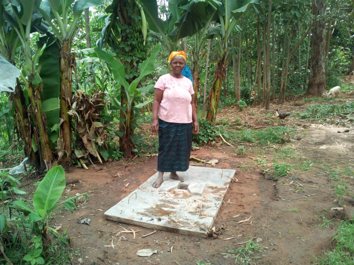 25 Mrs. Grace Malezi and her sanitation platform