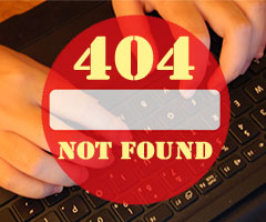 Internet censorship in the UK, 404 not found