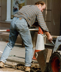 A man working