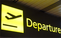 Airline departures, my flight with Globespan