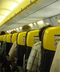 Airline seats getting smaller