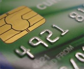 A bank card