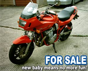 Suzuki Bandit FOR SALE - New baby means all the fun is out the window!