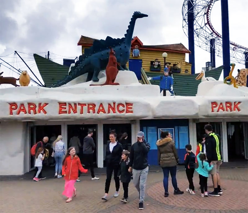 Blackpool Pleasure Beach Entrance