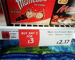 Bogof offers and multi-buy promotions