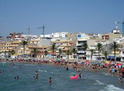 The British holidaymakers in Spain