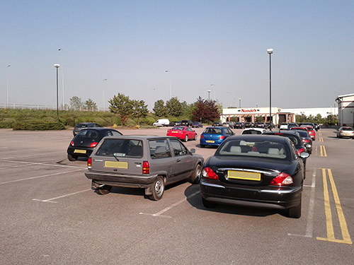 Parking spaces should be bigger, NOT smaller