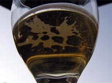 A glass of champagne - rich, but poor in spirit