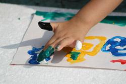Infant school - painting