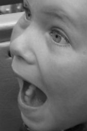 A child yelling