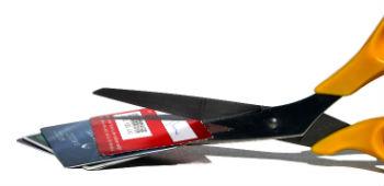 Debt management - cutting up credit cards
