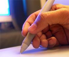 Hand of a designer