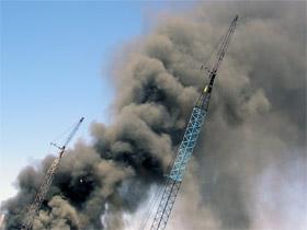 Scene of disaster - breaking news