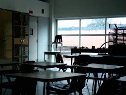 Public sector strikes - an empty classroom