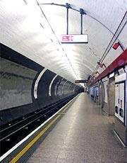 An empty underground platform