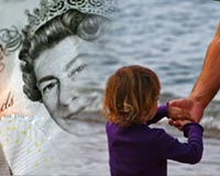 Father and son, and a ten pound note