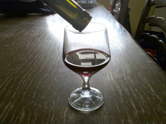 Glass of wine, minimum price for alcohol policy