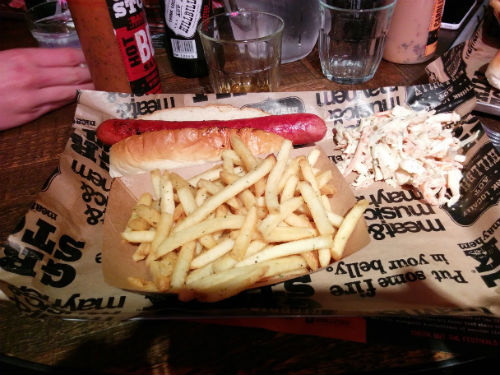 A hot dog meal purchased recently at Grillstock in Leicester