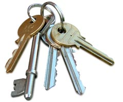 A bunch of house keys, cannot afford to buy or rent