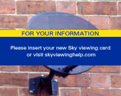 Please insert your new Sky viewing card
