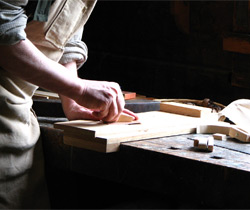 A carpenter working