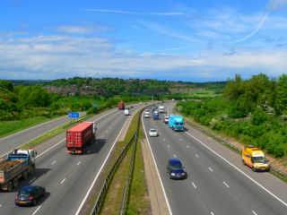 Motorway lanes - the M3