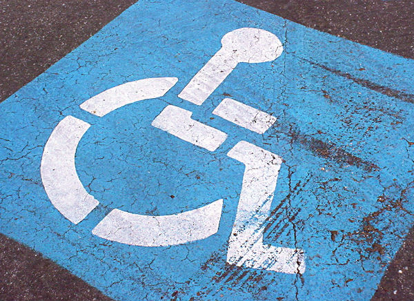 No disabled parking spaces free in underground car park