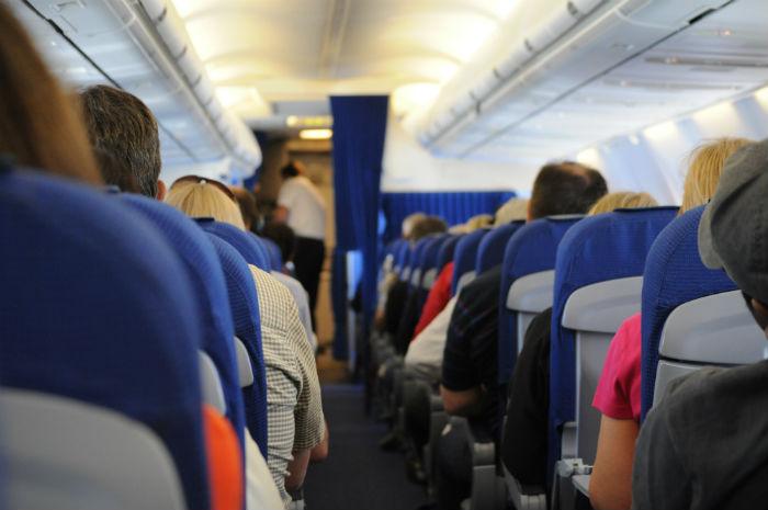 Passengers on a flight
